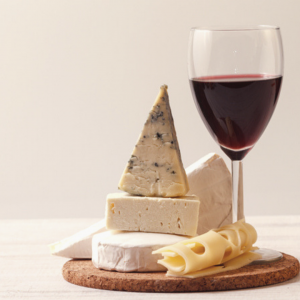 Cheese and wine, very fine…