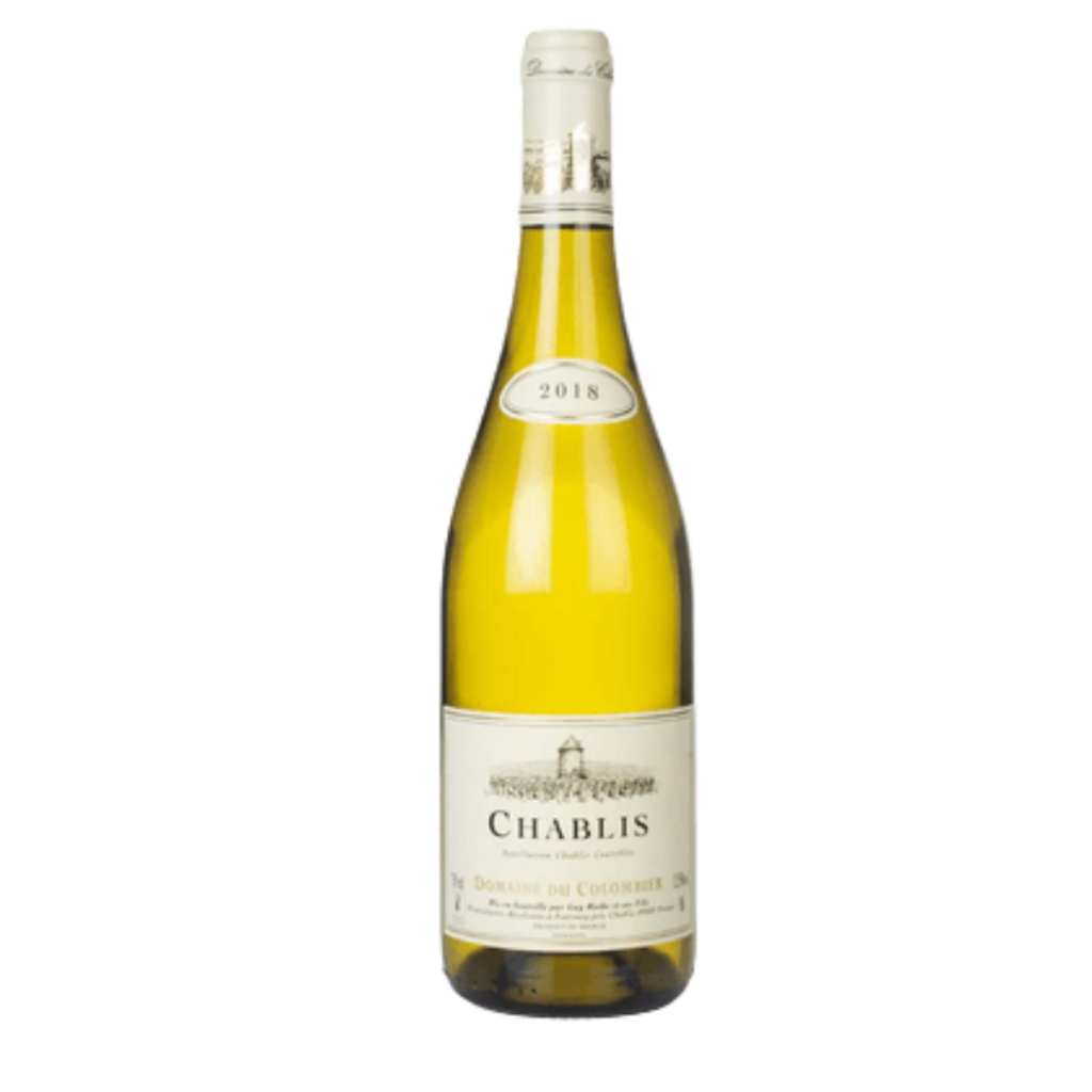 Chablis wine. Recommended to pair with creamy food like Risotto.