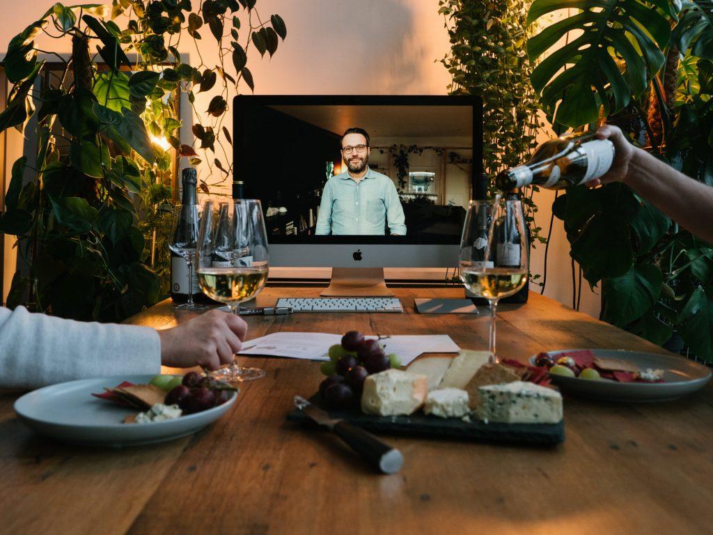 Marco hosting virtual wine tasting